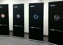 Retractable banner stands for trade show