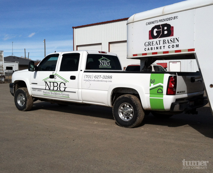 Nbg truck graphics and back window decal