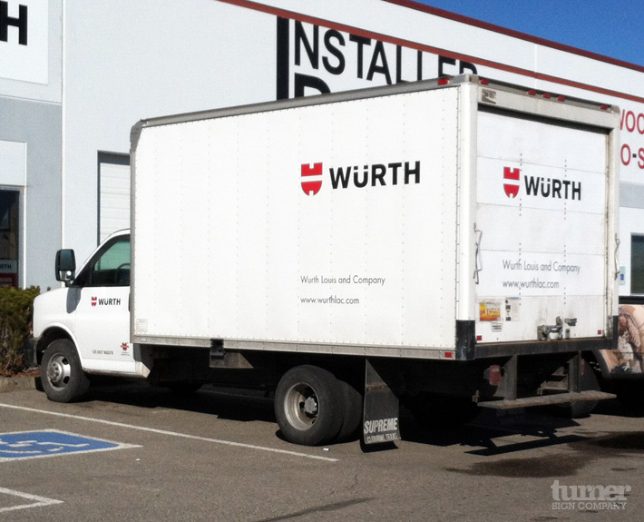Wurth Box Truck Decals Turner Sign Co