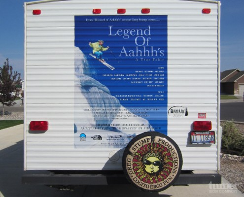 Movie Poster Decal on Trailer