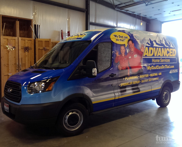 Advanced Home Services Transit Wrap Turner Sign Co