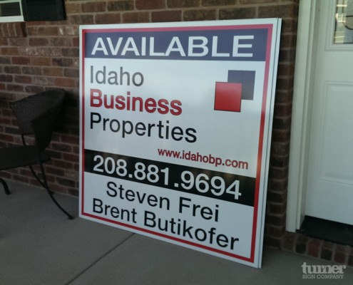Real Estate Site Sign for ipb Idaho Falls