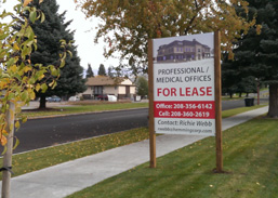 4x6 site sign for lease rexburg