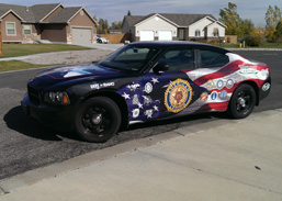 American Legion Dodge Charger Vehicle wrap