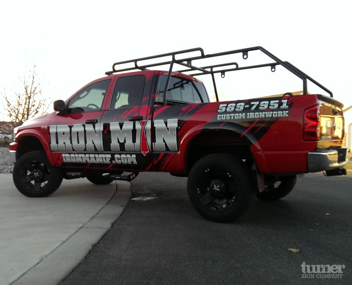 Iron Man Truck Wrap Turner Sign Co