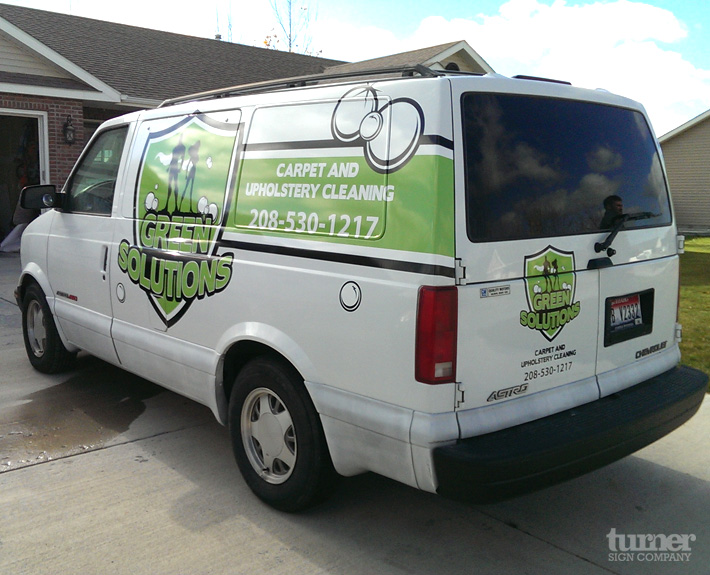 Green Solutions Van Graphics Turner Sign Co