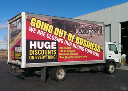 Box Truck Wrap for Going out of business sale