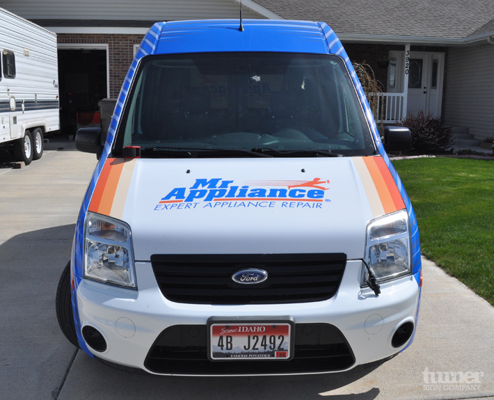 hood and roof wrap on ford transit connect