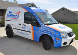 Blue wrap for ford transit connect