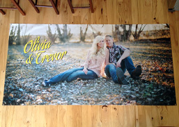 Large Wedding Photo Print on Banner