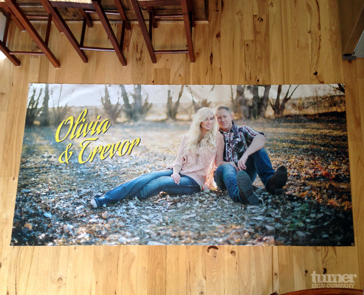 Large Photo print for wedding on Banner