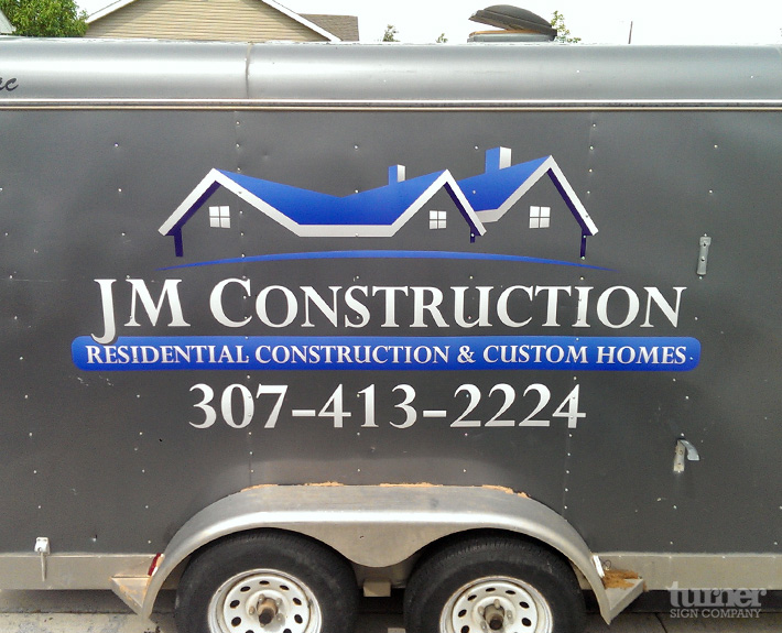Jm Construction Trailer Turner Sign Co