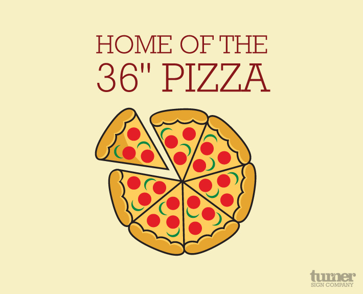 36 inch pizza logo
