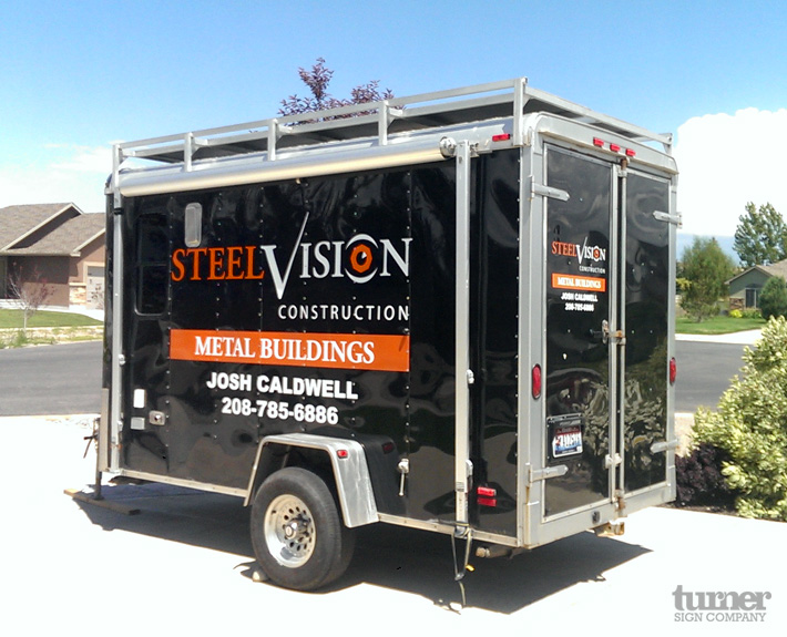 Steel Visions Construction Trailer Decals