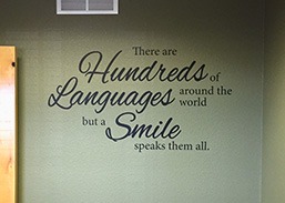 Dental office wall words fi