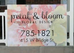 Petal and Bloom Blackfoot sign