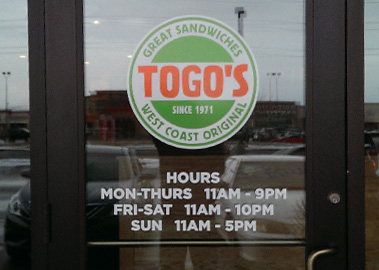 Entry Door Logo and Hours
