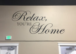 Relax you're home wall vinyl